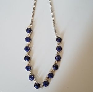 Jewelry - Navy rhinestone necklace